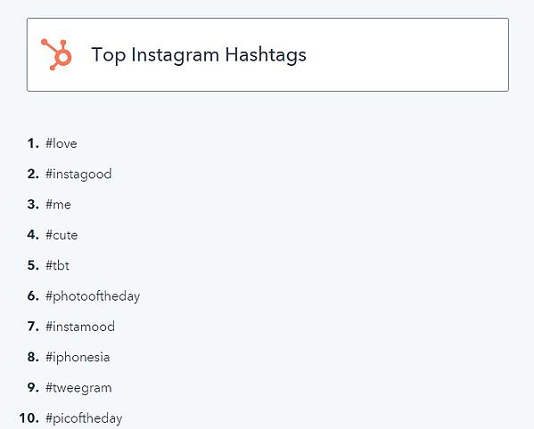 top insta hashtags